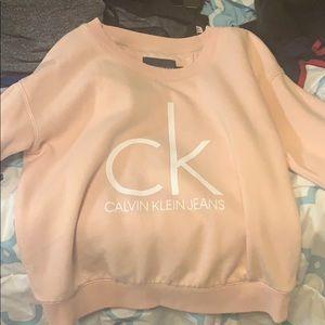 peach Calvin Klein sweater worn once!